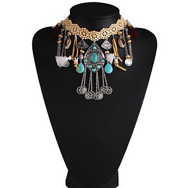 Kadın's Tellerinin Kolye Mücevher Mücevher Sentetik Taşlar alaşım Moda Euramerican Mücevher Uyumluluk Parti