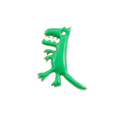 Γυναικεία Καρφίτσες Άνιμαλ χαριτωμένο στυλ Μοντέρνα Λατρευτός Εμαγιέ Κράμα Cruce Δεινόσαυρος Δράκος Ζώο Κοσμήματα Για Γάμου Πάρτι Ειδική