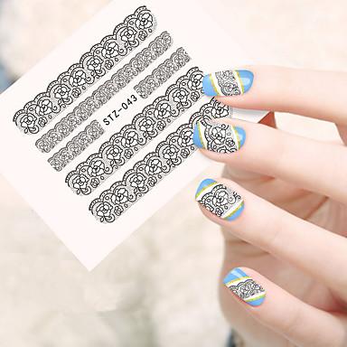 10pcs/set Nail Art αυτοκόλλητο Αυτοκόλλητο μεταφοράς νερού μακιγιάζ Καλλυντικά Σχεδιασμός νυχιών Τέχνης