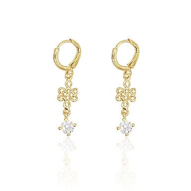 Pentru femei Fete Cercei Picătură imitație de diamant Design Unic La modă Personalizat Hipoalergenic Euramerican Zirconiu Placat Cu Aur