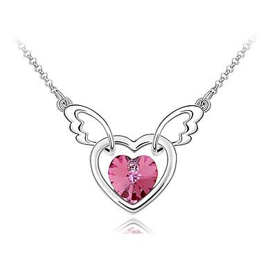 Kadın's Uçlu Kolyeler Kristal Heart Shape Eşsiz Tasarım Sallantılı Stil Mücevher Uyumluluk