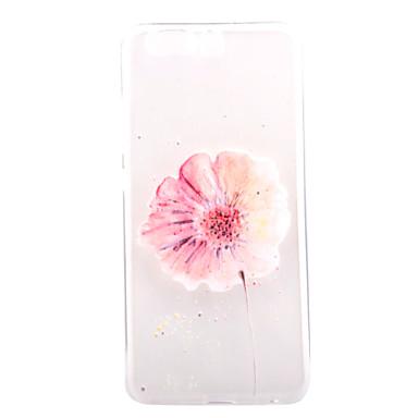 Pouzdro Uyumluluk Huawei Şeffaf Temalı Arka Kılıf Çiçek Yumuşak TPU için Huawei P10