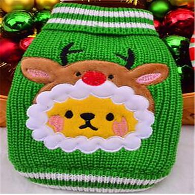 Σκύλος Πουλόβερ Ρούχα για σκύλους Χριστούγεννα Κινούμενα σχέδια Κόκκινο Πράσινο Στολές Για κατοικίδια