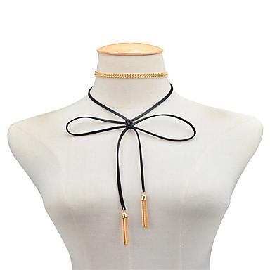 Pentru femei Bijuterii Lănțișoare - Piele Bowknot Shape Auriu, Argintiu
