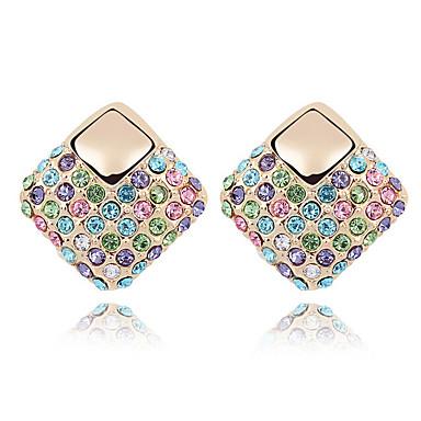 Pentru femei Cercei Stud Cristal Personalizat Floral Γεωμετρικά Pătrat Euramerican Bijuterii Pentru Nuntă Petrecere Zi de Naștere