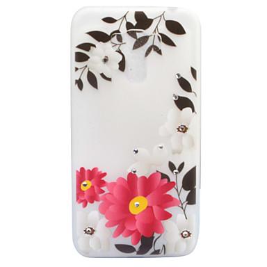 Pouzdro Uyumluluk Asus Taşlı Karanlıkta Parlayan Buzlu Yarı Saydam Temalı Arka Kılıf Çiçek Yumuşak TPU için Asus ZenFone 3 (ZE552KL)(5.5)
