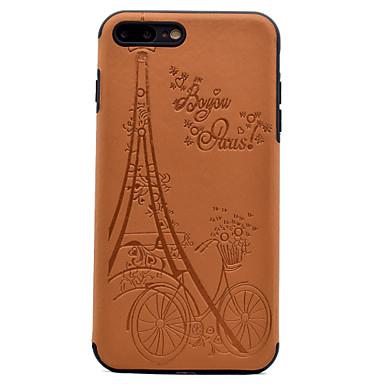 Maska Pentru Apple Ultra subțire Embosat Model Carcasă Spate Turnul Eiffel Moale PU Piele pentru iPhone 7 Plus iPhone 7 iPhone 6s Plus