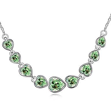 Kadın's Uçlu Kolyeler Kristal Heart Shape Kişiselleştirilmiş Eşsiz Tasarım Mücevher Uyumluluk