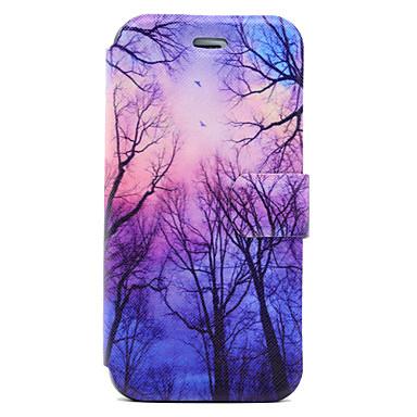 Pouzdro Uyumluluk iPhone 7 Plus iPhone 7 Apple Kart Tutucu Satandlı Flip Manyetik Temalı Tam Kaplama Kılıf ağaç Sert PU Deri için iPhone