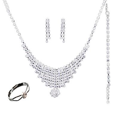Pentru femei Seturi de bijuterii Crom Altele Euramerican Modă Nuntă Petrecere Zilnic Casual Inele 1 Colier 1 Pereche de Cercei 1 Brățară