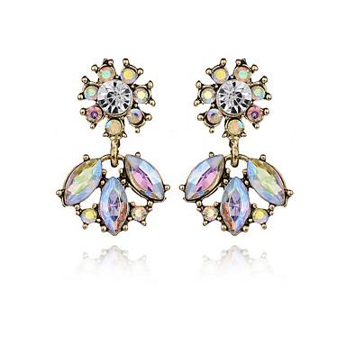 Γυναικεία Κρεμαστά Σκουλαρίκια Κρυστάλλινο Geometric Κρύσταλλο Κράμα Geometric Shape Κοσμήματα Ασημί Πάρτι Καθημερινά Causal Κοστούμια