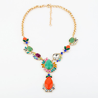 Damskie Pasemka Naszyjniki Kropla Unikalny Modny Rainbow Biżuteria Na Ślub 1szt