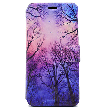 Kılıf Na Samsung Galaxy J5 (2016) J3 (2016) Etui na karty Z podpórką Flip Magnetyczne Wzór Pełne etui Drzewo Twarde Skóra PU na J5 (2016)