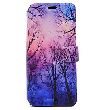 Etui Käyttötarkoitus Samsung Galaxy S8 Plus S8 Korttikotelo Tuella Flip Magneetti Kuvio Suojakuori Puu Kova PU-nahka varten S8 Plus S8