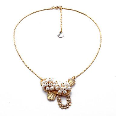 Γυναικεία Κρεμαστά Κολιέ Κρυστάλλινο Flower Shape Μοναδικό Euramerican Κοσμήματα Για