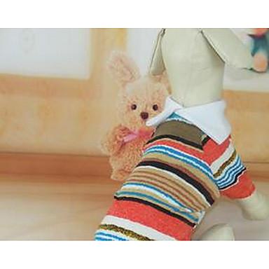 Köpek Tişört Köpek Giyimi Sevimli Günlük/Sade Çizgi Gökküşağı Kostüm Evcil hayvanlar için