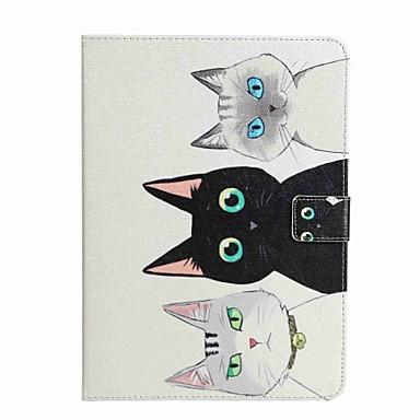 Uyumluluk Kılıflar Kapaklar Cüzdan Kart Tutucu Satandlı Flip Temalı Tam Kaplama Pouzdro Kedi Sert PU Deri için Samsung Tab A 7.0 (2016)