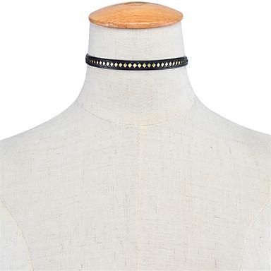 Pentru femei Șuviță unică Personalizat Modă Euramerican Coliere Choker Bijuterii Piele  Articole de ceramică Coliere Choker . Zilnic