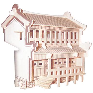 Kit Lucru Manual Puzzle 3D Puzzle Jucării Logice & Puzzle Jucarii Pătrat Clădire celebru Arhitectura Chineză Casă Bărbați Pentru femei de
