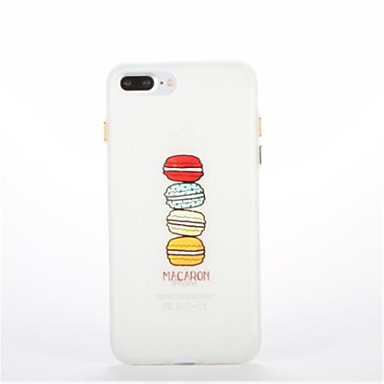 Pouzdro Uyumluluk Apple Karanlıkta Parlayan Temalı Arka Kılıf Yiyecek Yumuşak TPU için iPhone 7 Plus iPhone 7 iPhone 6s Plus iPhone 6