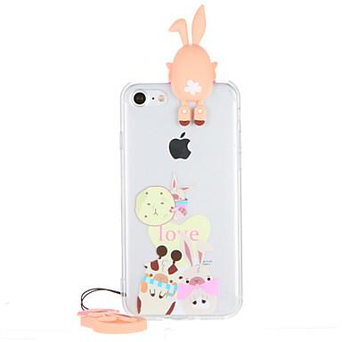 Kılıf Na Apple iPhone 7 Plus iPhone 7 Przezroczyste Wzór Czarne etui Kreskówka 3D Twarde PC na iPhone 7 Plus iPhone 7 iPhone 6s Plus