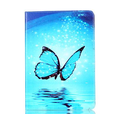 hoesje Voor Apple iPad Air 2 iPad Air Kaarthouder Portemonnee met standaard Flip Magnetisch Patroon Volledig hoesje Vlinder Hard PU-nahka