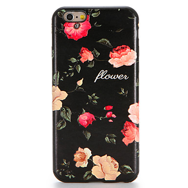 Hülle Für Apple iPhone 7 Plus iPhone 7 Muster Rückseite Blume Weich TPU für iPhone 7 Plus iPhone 7 iPhone 6s Plus iPhone 6s iPhone 6 Plus
