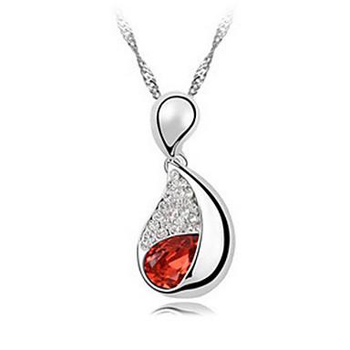 Damskie Naszyjniki z wisiorkami Kryształ euroamerykańskiej minimalistyczny styl Modny Osobiste Purple Czerwony Light Blue Biżuteria Na