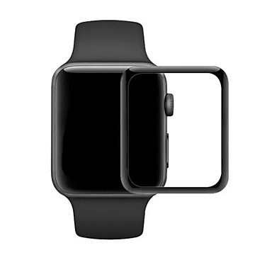 Недорогие Защитные пленки для Apple Watch-Защитная плёнка для экрана Назначение iWatch 38мм iWatch 42мм Закаленное стекло 2.5D закругленные углы 1 ед.
