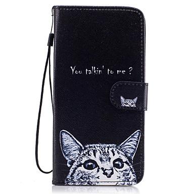 tok Για Samsung Galaxy S8 Plus S8 Πορτοφόλι Θήκη καρτών με βάση στήριξης Ανοιγόμενη Με σχέδια Μαγνητική Πλήρης κάλυψη Γάτα Σκληρή PU Δέρμα