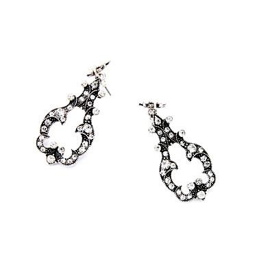 Halka Küpeler Kristal Eşsiz Tasarım Moda Kişiselleştirilmiş Euramerican Gümüş Mücevher Için Düğün Parti Doğumgünü 1 çift