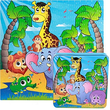 Holzpuzzle Spielzeuge Quadratisch Holz Kinder Stücke