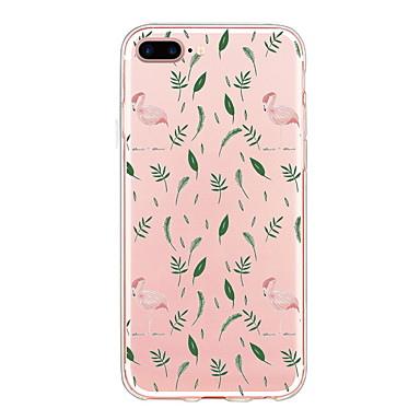 Maska Pentru Apple Ultra subțire Model Carcasă Spate Flamingo Moale TPU pentru iPhone 7 Plus iPhone 7 iPhone 6s Plus iPhone 6 Plus iPhone