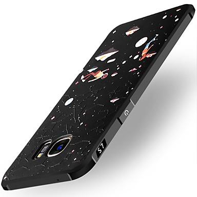 Hülle Für Samsung Galaxy Stoßresistent Muster Geprägt Rückseite Landschaft Weich TPU für S7 S6