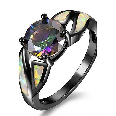 Pentru femei Sintetic Opal Articole de ceramică Placat Auriu Inel de logodna Inel - neregulat Personalizat Lux Euramerican Modă Culori