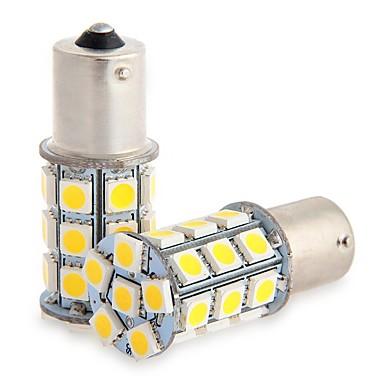 2pcs 1156 27 * 5050smd a condus lampa auto masina de lumina calda dc12v