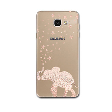 voordelige Galaxy A-serie hoesjes / covers-hoesje Voor Samsung Galaxy A3 (2017) / A5 (2017) / A7 (2017) Ultradun / Patroon Achterkant Olifant Zacht TPU