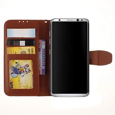 Etui Käyttötarkoitus Samsung Galaxy S8 Plus S8 Korttikotelo Tuella Flip Kokonaan peittävä Yhtenäinen väri Kova PU-nahka varten S8 S8 Plus