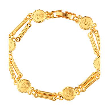Bărbați Pentru femei Brățări cu Lanț & Legături Bijuterii Modă Auriu Articole de ceramică Placat Auriu Alphabet Shape Bijuterii Cadouri