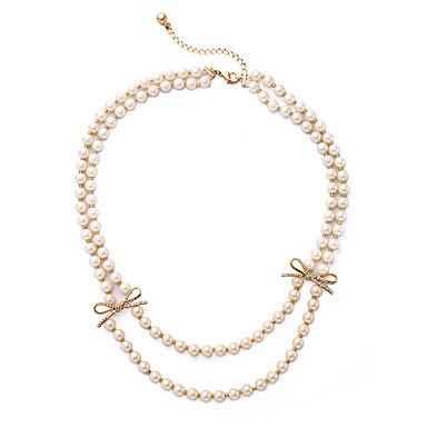 Γυναικεία Σκέλη Κολιέ Geometric Shape Εξατομικευόμενο κοσμήματα πολυτελείας Λευκό Κοσμήματα Για Γάμου 1pc