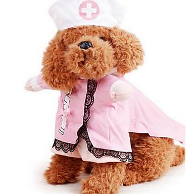 Koira Asut Koiran vaatteet Sievä Rento/arki Muoti Yhtenäinen Pinkki Asu Lemmikit