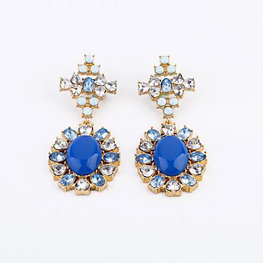 Kolczyki na sztyft Kryształ Osobiste euroamerykańskiej Flower Shape Niebieski Biżuteria Na 1 para