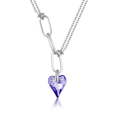 Pentru femei Coliere cu Pandativ Bijuterii Heart Shape Bijuterii Cristal Aliaj Design Unic La modă Euramerican Bijuterii Pentru Petrecere
