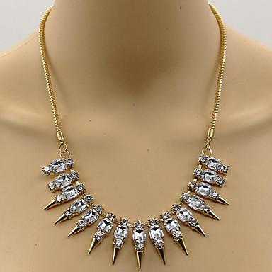 للمرأة قلائد الحلي تقليد الماس Tube Shape أسلوب بانك ذهبي مجوهرات إلى مناسبة خاصة يوميا قطعة