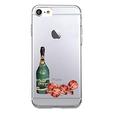 Kılıflar Kapaklar Apple için Arka Kılıf Ultra İnce Temalı Yiyecek Yumuşak TPU iPhone 7 Plus iPhone 7 iPhone 6s Plus iPhone 6 Plus iPhone