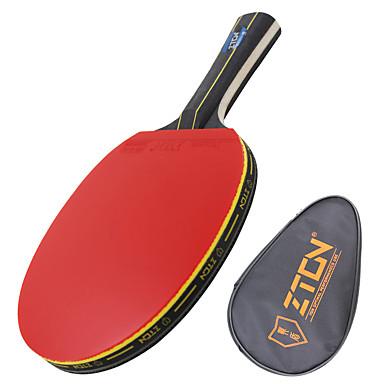 Ping Pang/Masa Tenisi Raketler Ping Pang Ahşap Uzun Saplı Sivilce 1 Raket 1 Masa Tenisi Çantası-ZTON