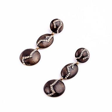 Halka Küpeler Kristal Çok güzel Kişiselleştirilmiş Euramerican minimalist tarzı Bakır Mücevher Için Düğün Parti Doğumgünü 1 çift