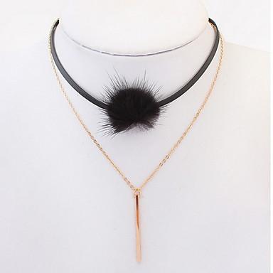 olcso Divat nyaklánc-Női Rövid nyakláncok Nyaklánc medálok Rakott nyakláncok Ékszerek Ékszerek BársonyAlap Egyedi Medál Szerelem Geometriai Barátság Vallásos