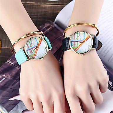 Dames Unieke creatieve horloge Polshorloge Modieus horloge Vrijetijdshorloge Chinees Kwarts Kleurrijk / Leer Band Glitter Informeel Cool