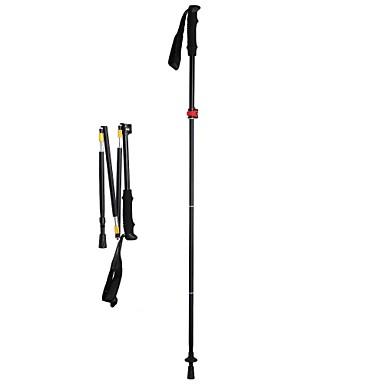 3pcs Nordic Walking Stöcke 135cm (53 Zoll) Dämpfung Faltbar Einstellbare Passform Leichtes Gewicht Aluminiumlegierung Camping & Wandern